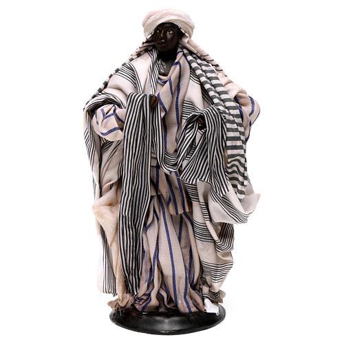 Neapolitan Nativity figurine, cloth seller, 18 cm 1