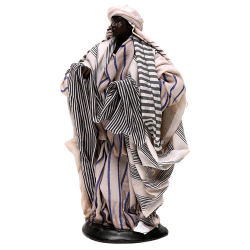Neapolitan Nativity figurine, cloth seller, 18 cm 3