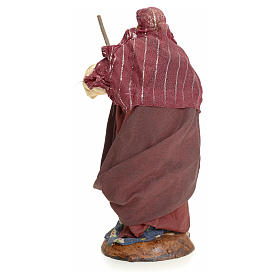 Neapolitan Nativity figurine, woman with broom, 18 cm s3