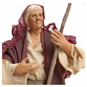 Neapolitan Nativity figurine, woman with broom, 18 cm s4