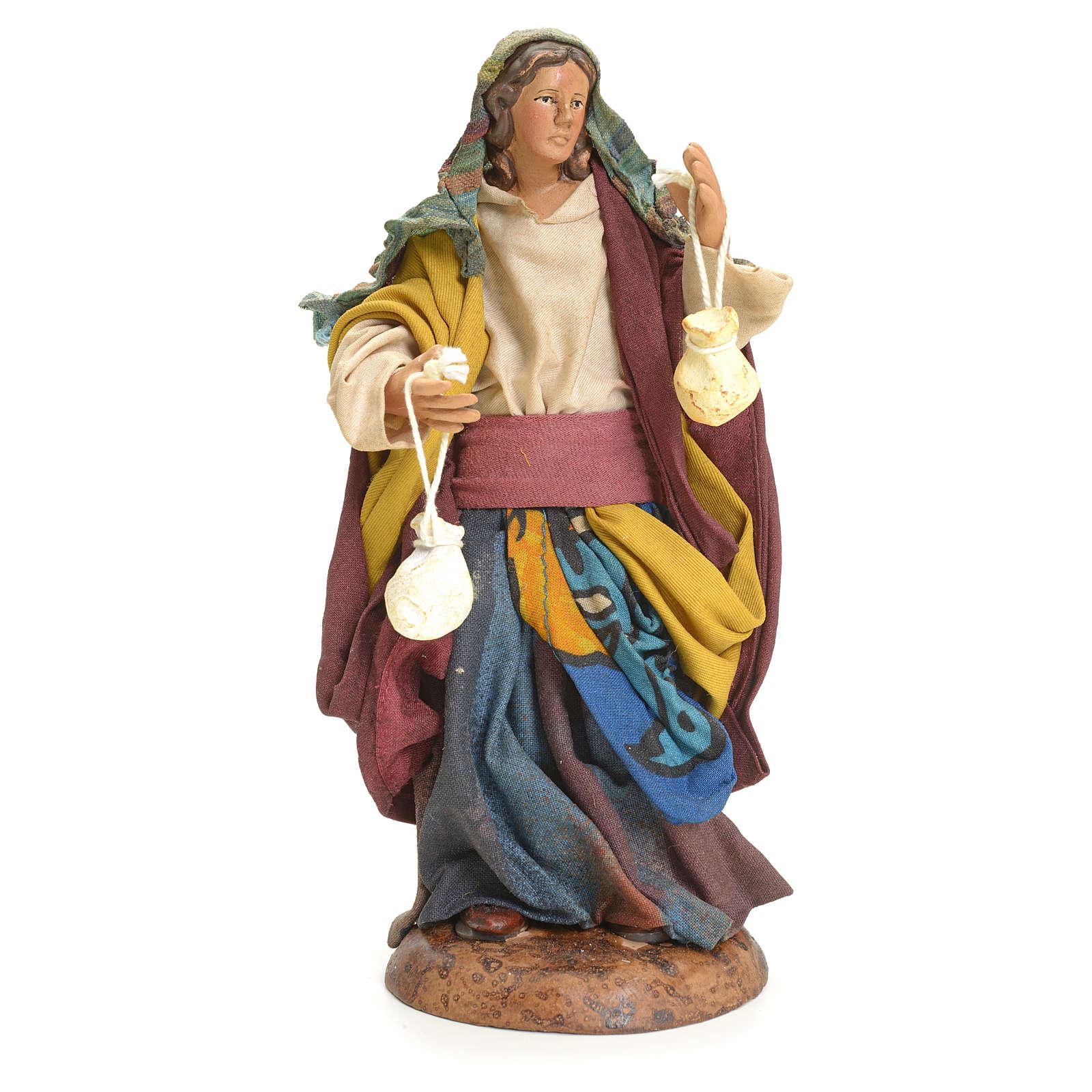 Mujer con quesos 18 cm Pesebre napolitano 4