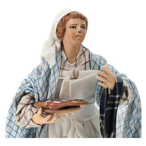 Neapolitan Nativity figurine, pizza maker, 18 cm 2