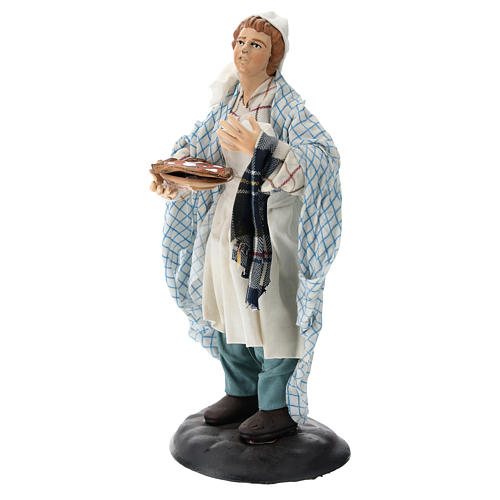 Neapolitan Nativity figurine, pizza maker, 18 cm 3