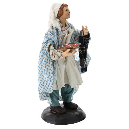 Neapolitan Nativity figurine, pizza maker, 18 cm 4