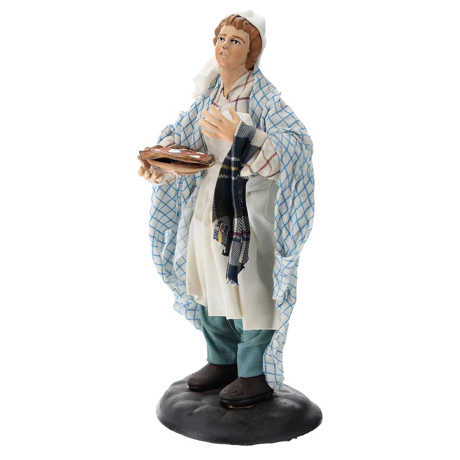 Neapolitan Nativity figurine, pizza maker, 18 cm 4