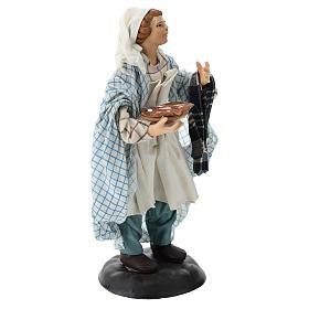 Neapolitan Nativity figurine, pizza maker, 18 cm s4
