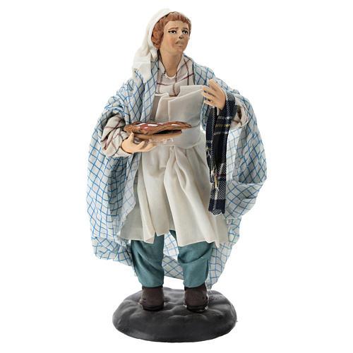 Neapolitan Nativity figurine, pizza maker, 18 cm 1