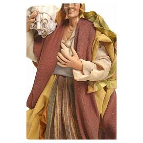 Donna con Sacco 18 cm presepe Napoletano s4