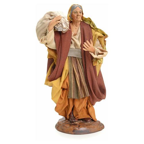 Donna con Sacco 18 cm presepe Napoletano 1