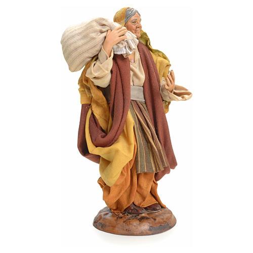 Donna con Sacco 18 cm presepe Napoletano 2