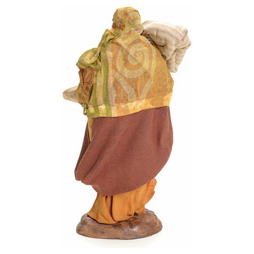Donna con Sacco 18 cm presepe Napoletano 3
