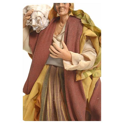 Donna con Sacco 18 cm presepe Napoletano 4