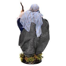 Neapolitan Nativity figurine, man with stick, 18 cm s5