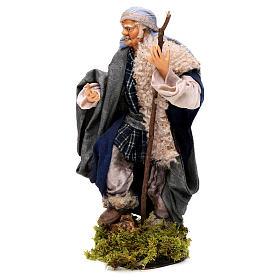 Uomo con bastone 18 cm presepe napoletano s3