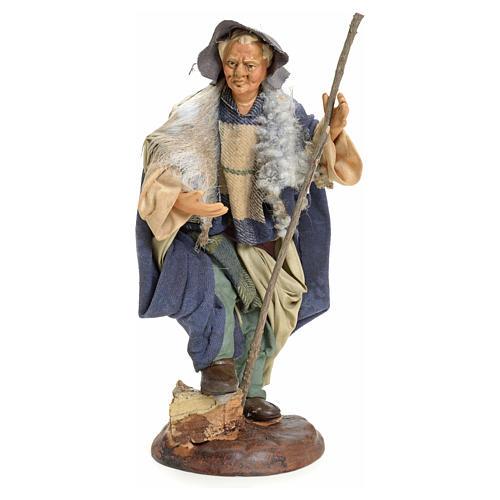 Uomo con bastone 18 cm presepe napoletano 1