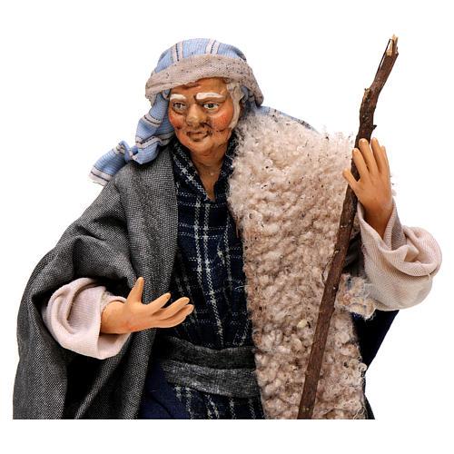 Uomo con bastone 18 cm presepe napoletano 2