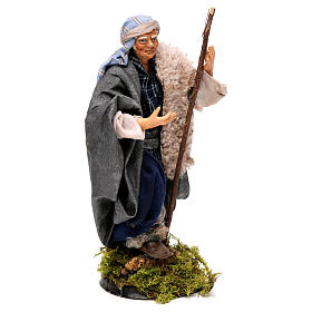 Neapolitan Nativity figurine, man with stick, 18 cm s4