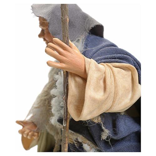 Neapolitan Nativity figurine, man with stick, 18 cm 4