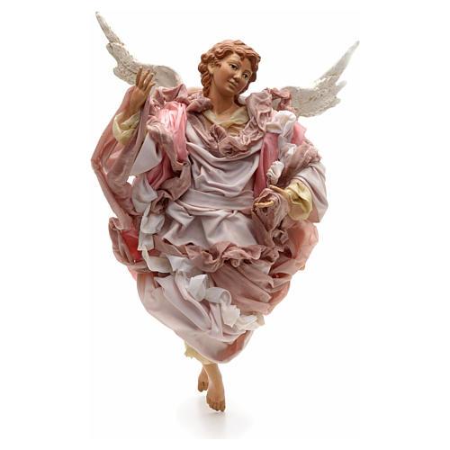 Ange rose terre cuite crèche Napolitaine 45 cm 1