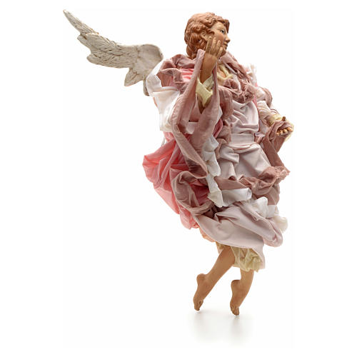 Ange rose terre cuite crèche Napolitaine 45 cm 2