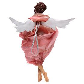 Angelo rosa terracotta presepe napoletano 45 cm s3