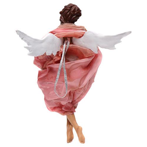 Angelo rosa terracotta presepe napoletano 45 cm 3