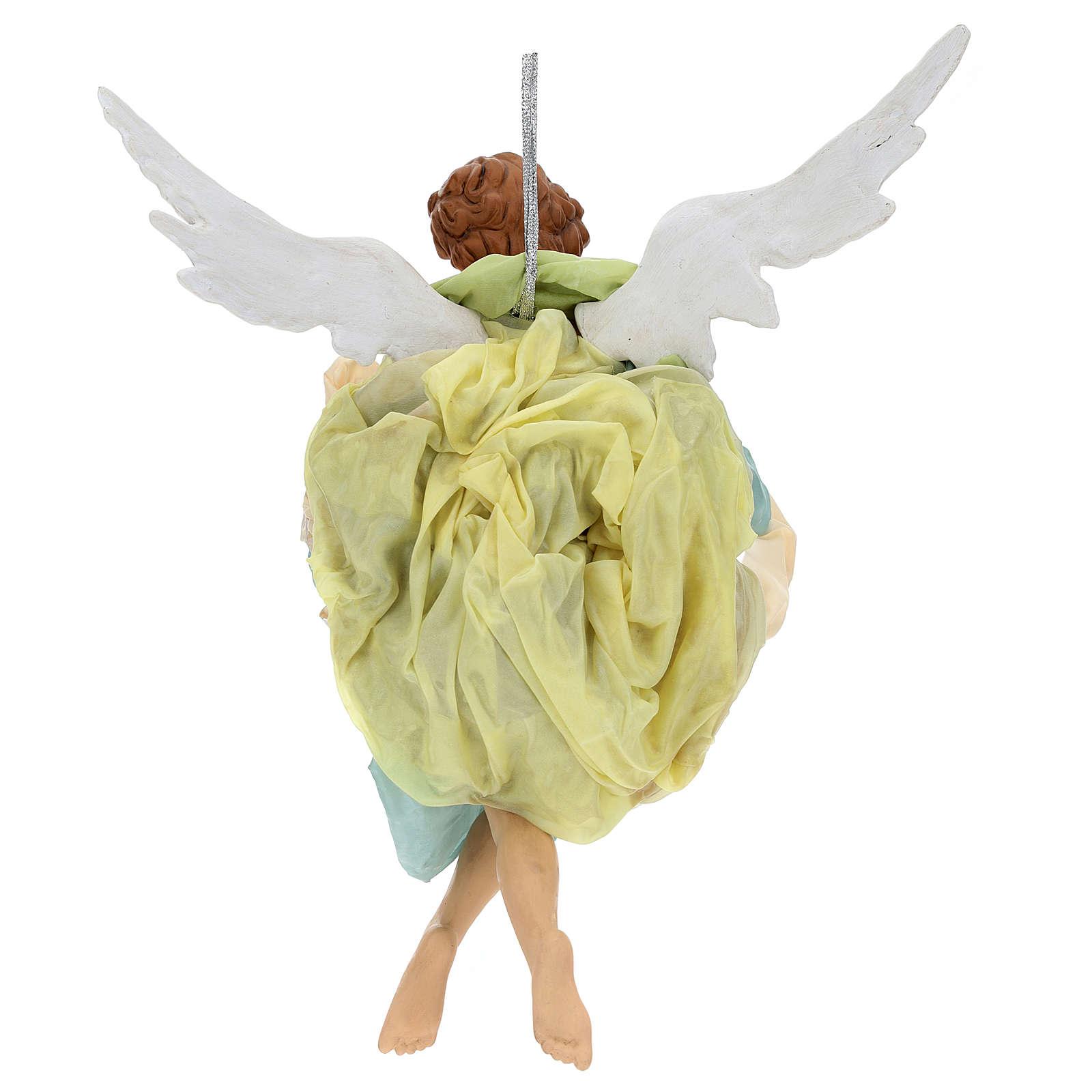 Neapolitan Nativity figurine, green angel, 45 cm 4