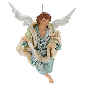 Neapolitan Nativity figurine, green angel, 45 cm s1