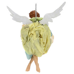 Neapolitan Nativity figurine, green angel, 45 cm s4