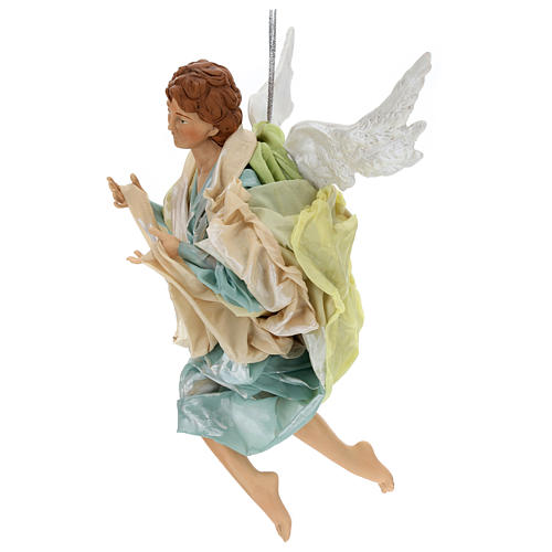 Neapolitan Nativity figurine, green angel, 45 cm 2