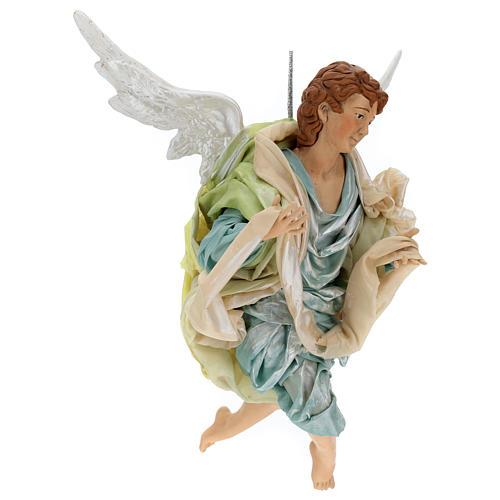 Neapolitan Nativity figurine, green angel, 45 cm 3