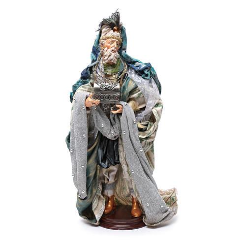 Neapolitan Nativity figurine, three wise kings, 45 cm 2