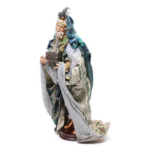 Neapolitan Nativity figurine, three wise kings, 45 cm 3