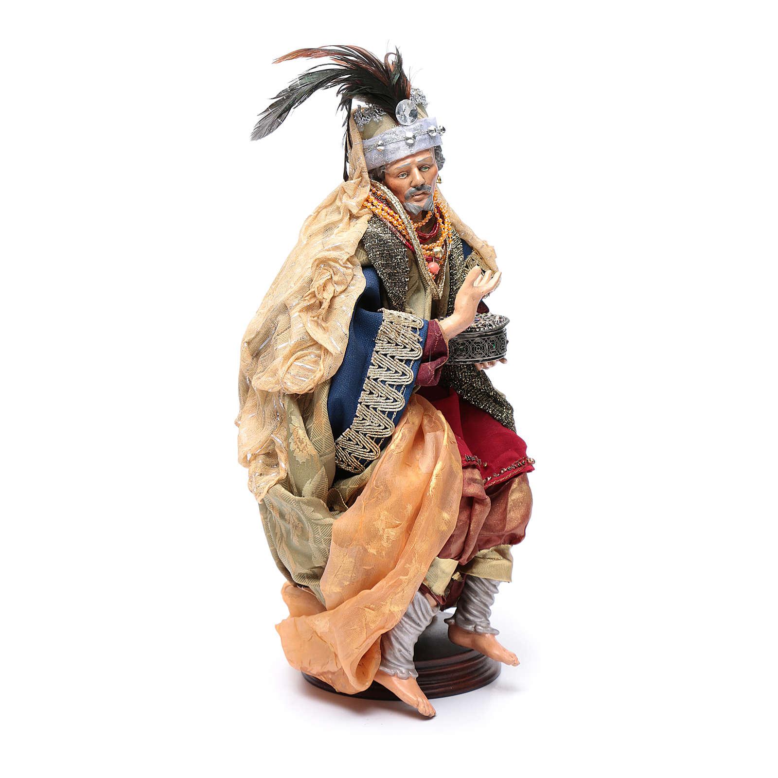 Reyes Magos pesebre napolitano 45 cm 4