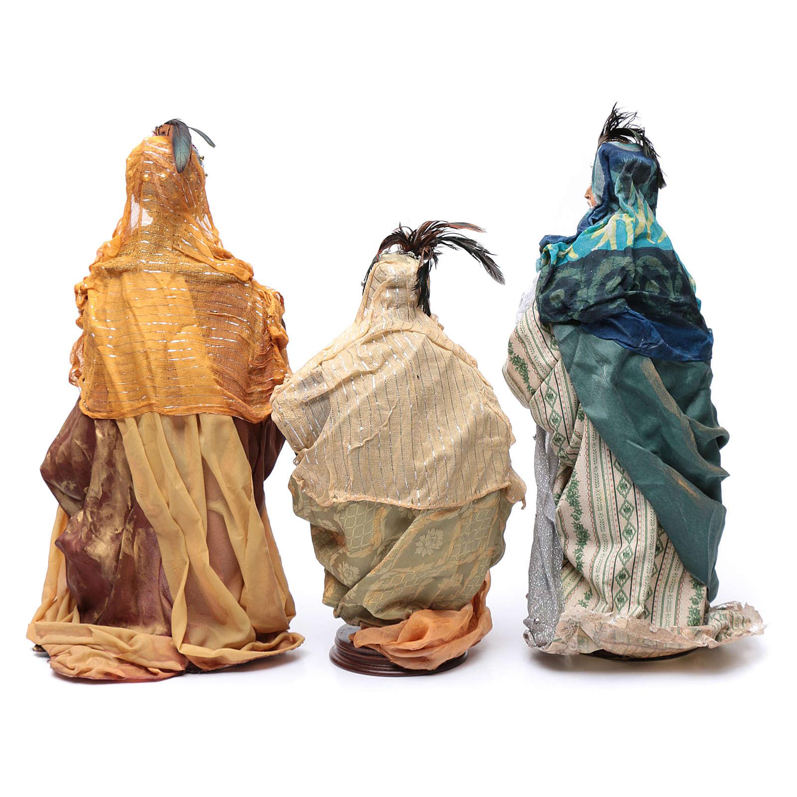 Neapolitan Nativity figurine, three wise kings, 45 cm 4