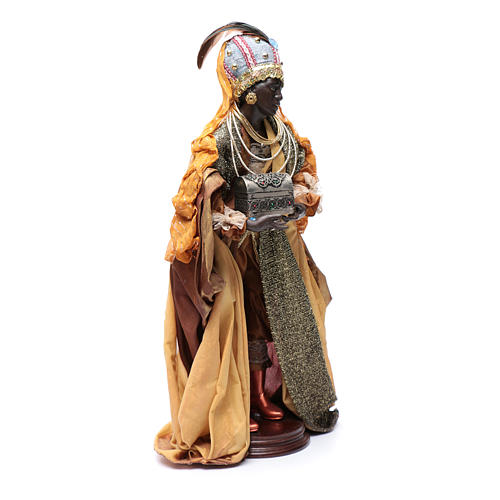 Neapolitan Nativity figurine, three wise kings, 45 cm 5