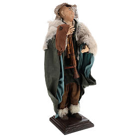 Neapolitan Nativity figurine, piper, 45 cm s3