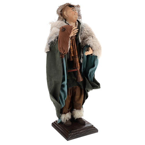 Neapolitan Nativity figurine, piper, 45 cm 3