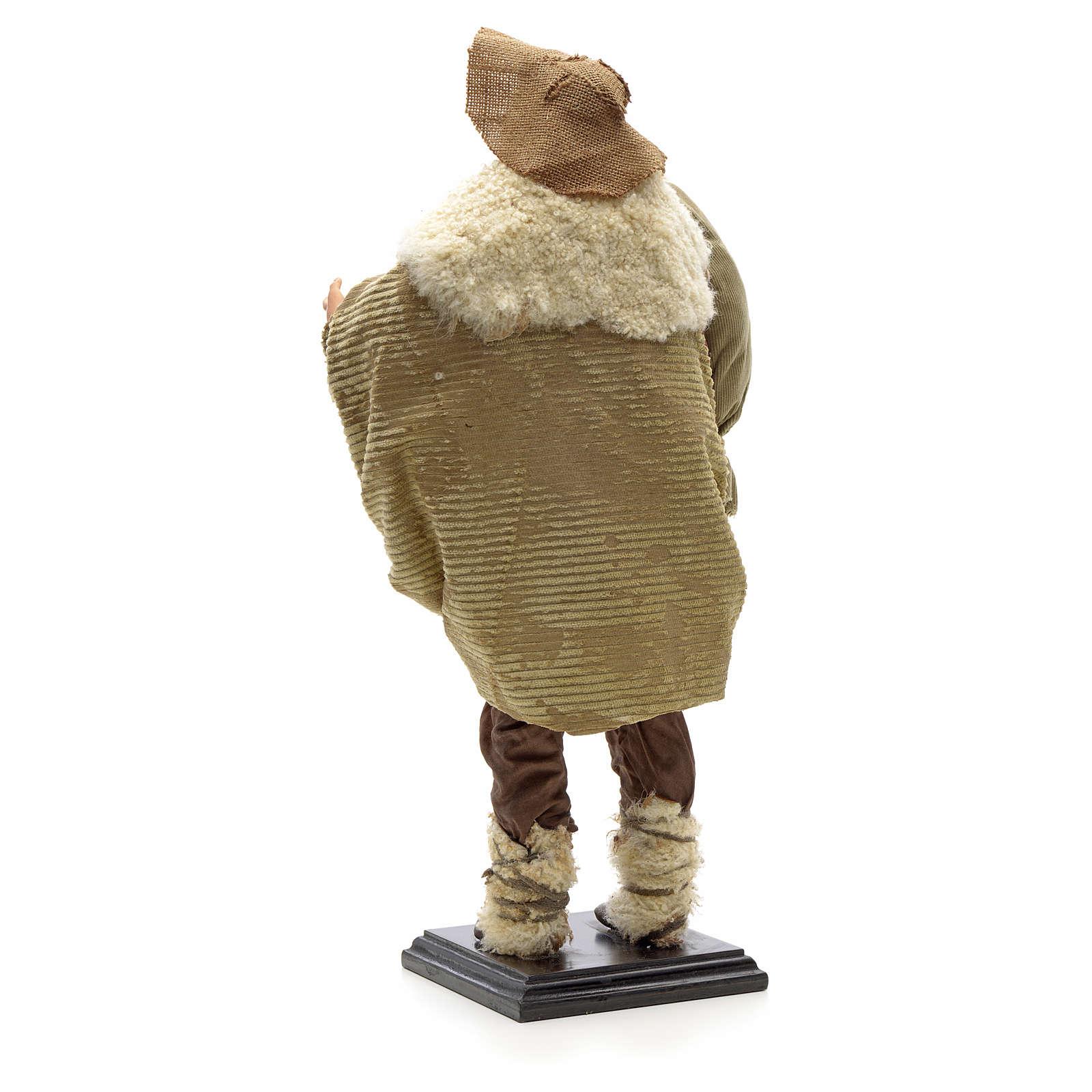 Zampognaro terracotta presepe napoletano 45 cm 4