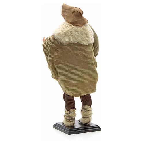 Zampognaro terracotta presepe napoletano 45 cm 3