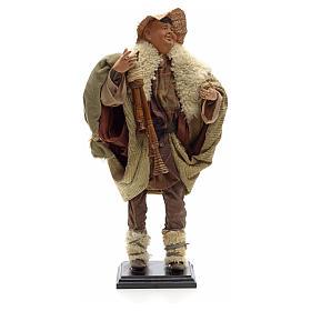 Neapolitan Nativity figurine, piper, 45 cm s1
