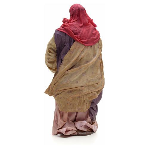 Donna con bimbo in braccio 30cm presepe napoletano 3