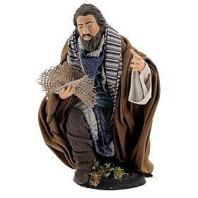 Neapolitan Nativity figurine, beggar, 30cm s1