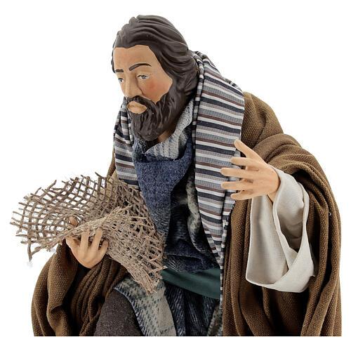 Neapolitan Nativity figurine, beggar, 30cm 2