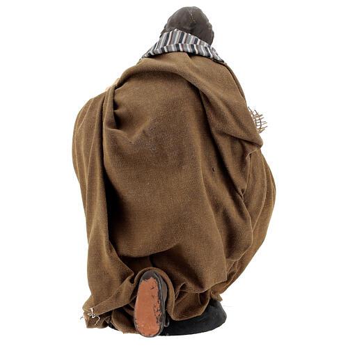 Neapolitan Nativity figurine, beggar, 30cm 5