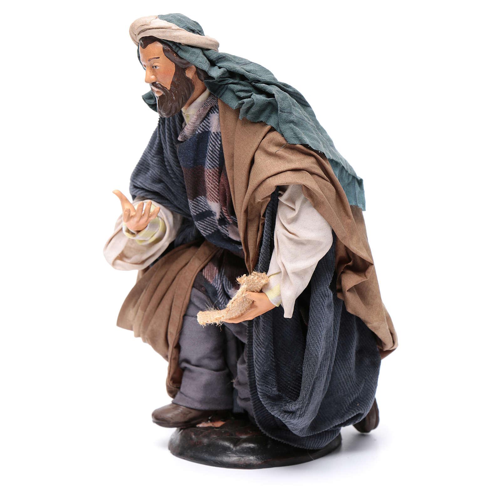 Neapolitan Nativity figurine, beggar, 30cm 4