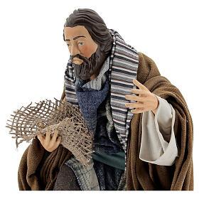 Neapolitan Nativity figurine, beggar, 30cm s2