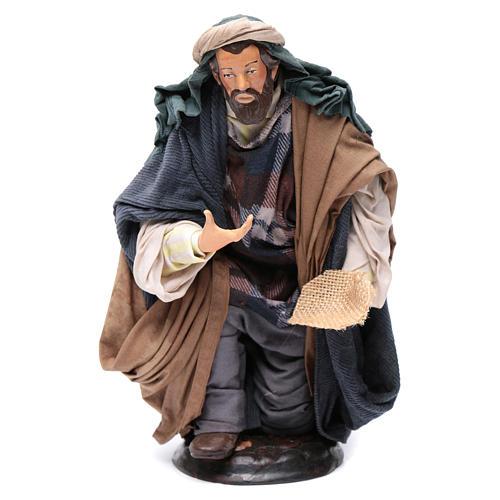 Neapolitan Nativity figurine, beggar, 30cm 1