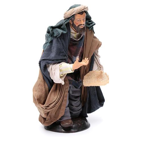 Neapolitan Nativity figurine, beggar, 30cm 3