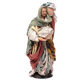 Mujer con cesta de paños 30cm belén napolitano s3